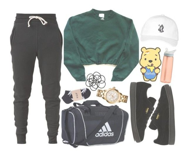 """D A N C E"" by w-on-der-lan-d ❤ liked on Polyvore featuring adidas, October's Very Own, John Elliott, Puma, Tory Burch, CamelBak, Monki, dance and rehearsal"