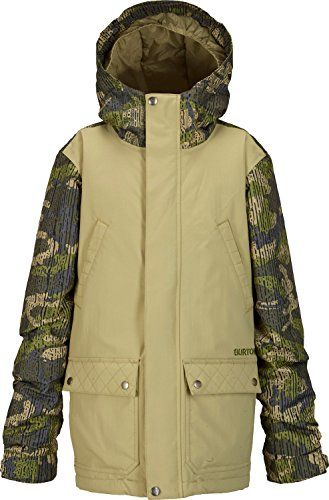 Burton TWC Greenlight Boys Snowboard Jacket Medium GrayeenDrop Camo ** Want additional info? Click on the image.(This is an Amazon affiliate link and I receive a commission for the sales)