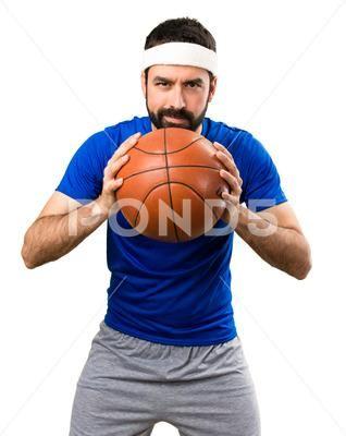Lustiger Sportler mit Ball des Basketballs auf lokalisiertem weißem Hintergrund Stockfoto …   – Best Photoshop Actions