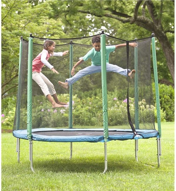 8' Enclosed Trampoline in Outdoor Play Toys