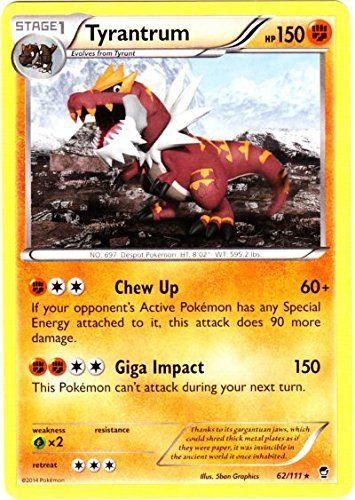 Pokemon - Tyrantrum (62/111) - XY Furious Fists Pokémon