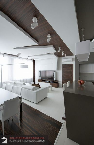 Living space, Condo Renovation project done by Solution Build Group Inc.