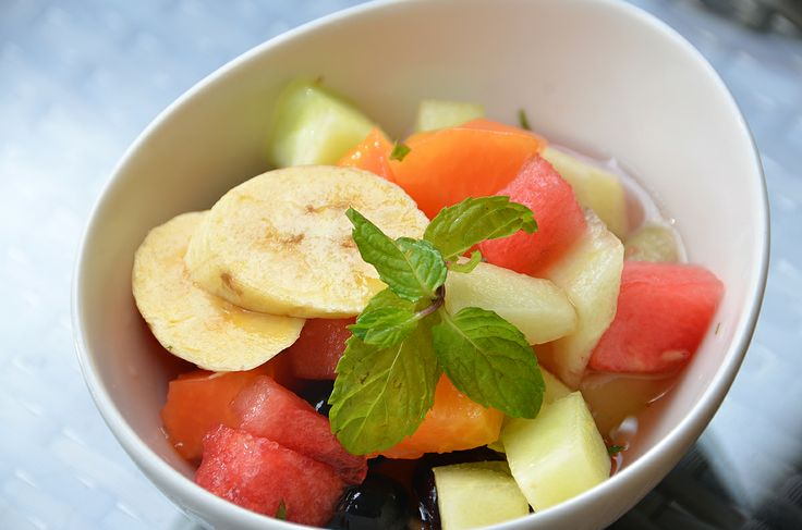 A choice of tropical fruits..