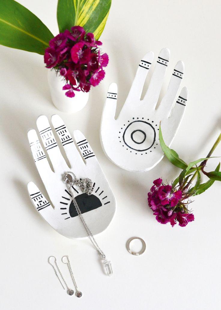 Clay hands DIY ring dish | Mollie Makes 56 | DIY | organize | jewlery | home | ideas | crafts | kids | fun | Schomp Honda
