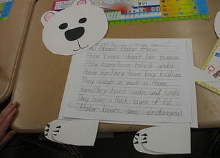 Polar Bear Research project. We are learning about Polar Bears next week so we may have to do this!