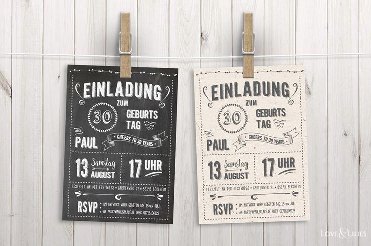 LoveAndLilies.de | Chalkboard Design: Einladungen zum Geburtstag im Chalkboard Stil sowie kostenlose Fonts, Retro Geburtstagsposter und eine Handlettering Buchempfehlung