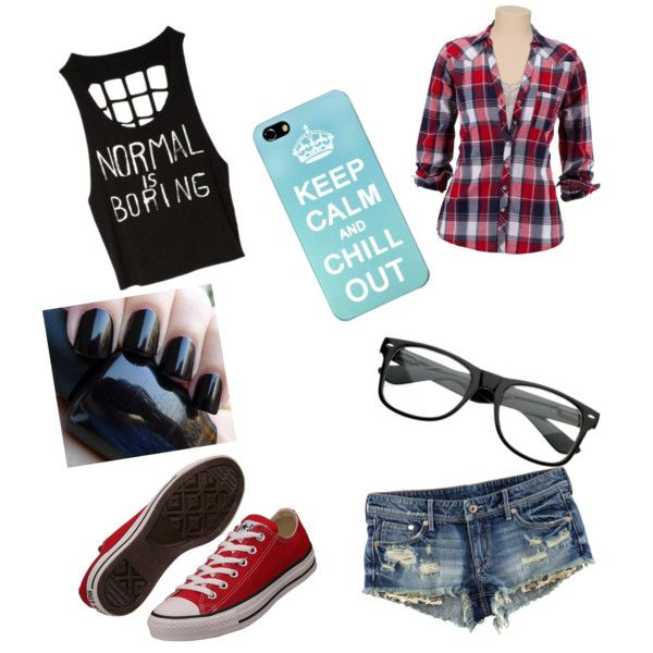 Cute outfit for middle school but I would change the nail ...