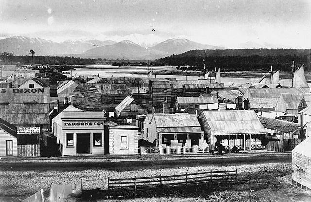Hokitika township, ca 1870s