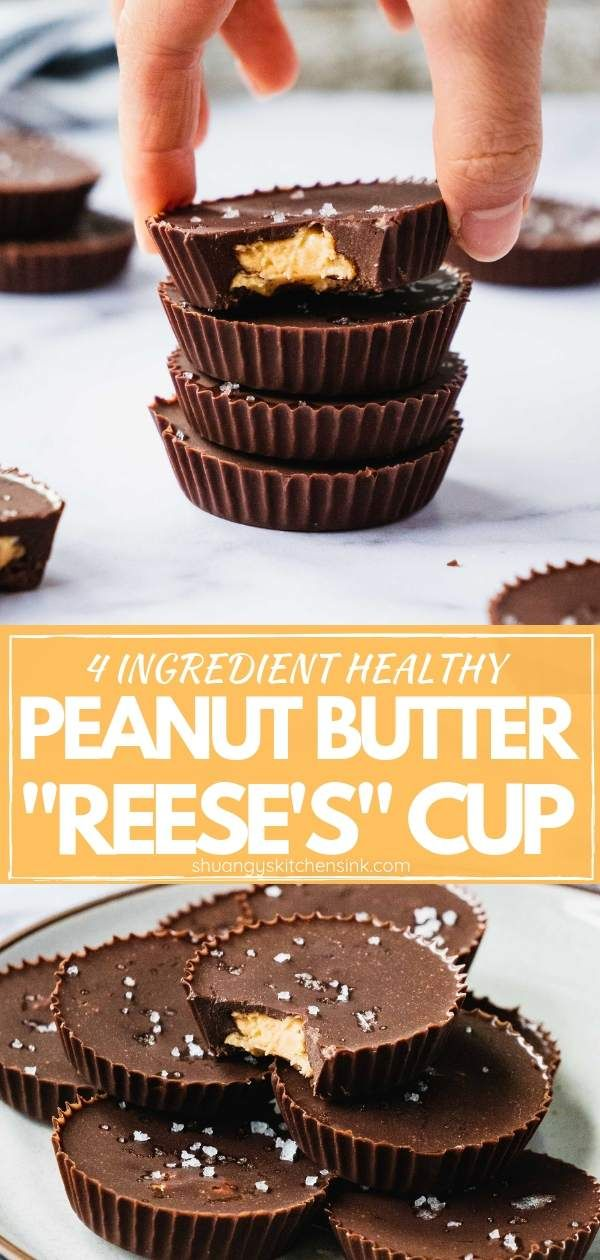 Healthy Peanut Butter Cups Homemade Healthy Peanut Butter Cups With Just 4 Sim Peanut Butter Cups Recipe Sugar Free Peanut Butter Homemade Peanut Butter Cups