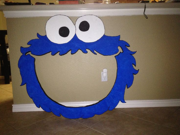 "Cookie monster styrofoam frame 42"" $35.00 email me"