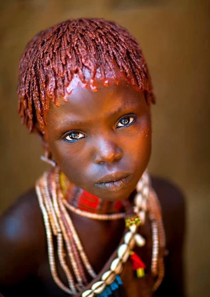 Hamer Tribe Girl, Turmi, Omo Valley, Ethiopia                                                                                                                                                                                 More