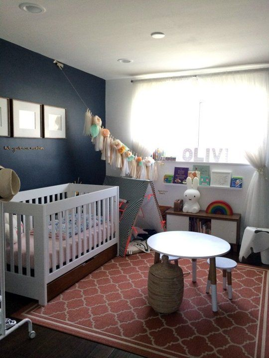 A Touch of Drama: Black & Navy Accent Walls in Kids Rooms | Apartment Therapy