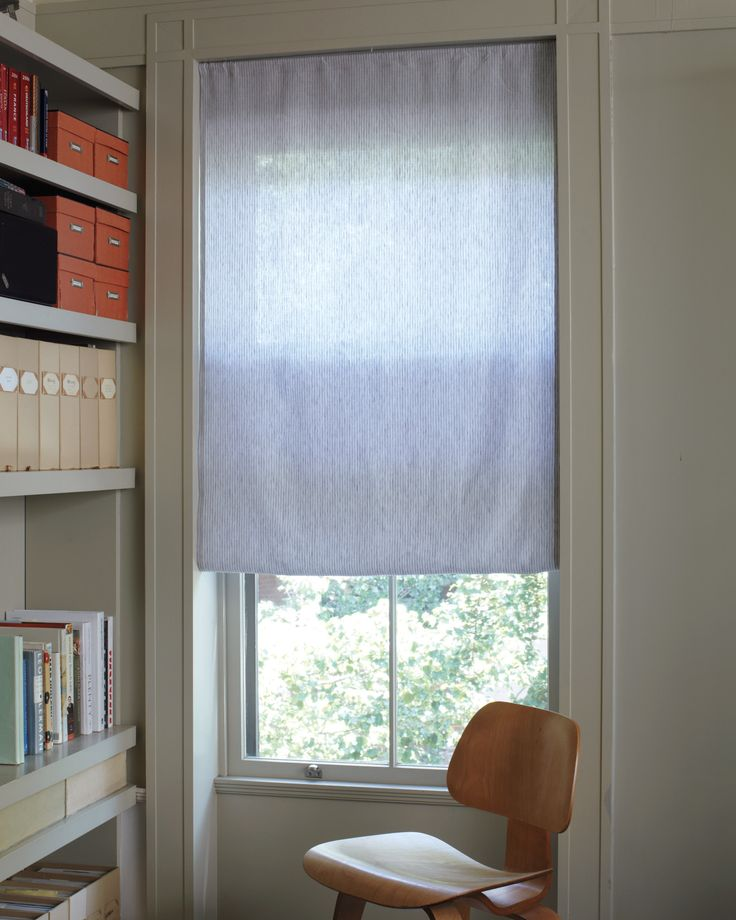 Whether you have an odd-shaped window or want to use a pretty fabric, this easy treatment is a quick and inexpensive way to get the  look of a Roman shade.