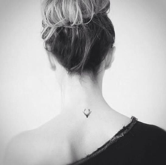 Simple Antler Tattoo: Simple Stag Silhouette Tattoo