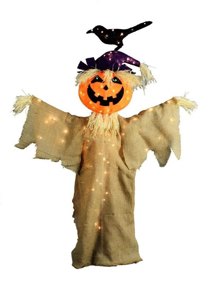 233 best halloween crafts ideas images on pinterest for Animated scarecrow decoration