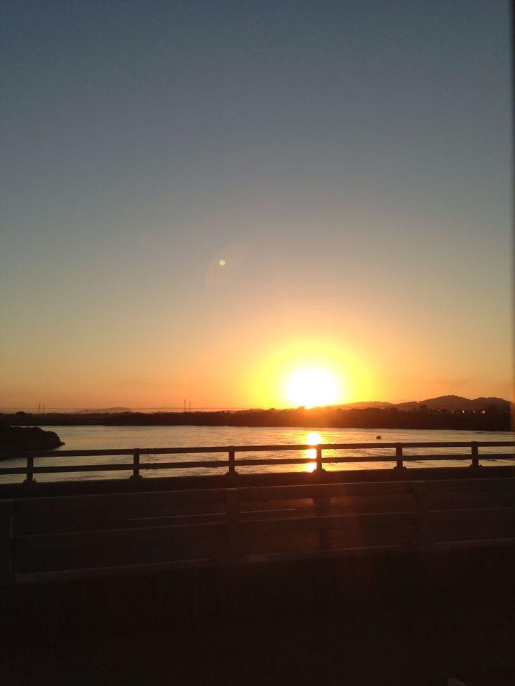 Sunset from the Ron Camm Bridge, Mackay