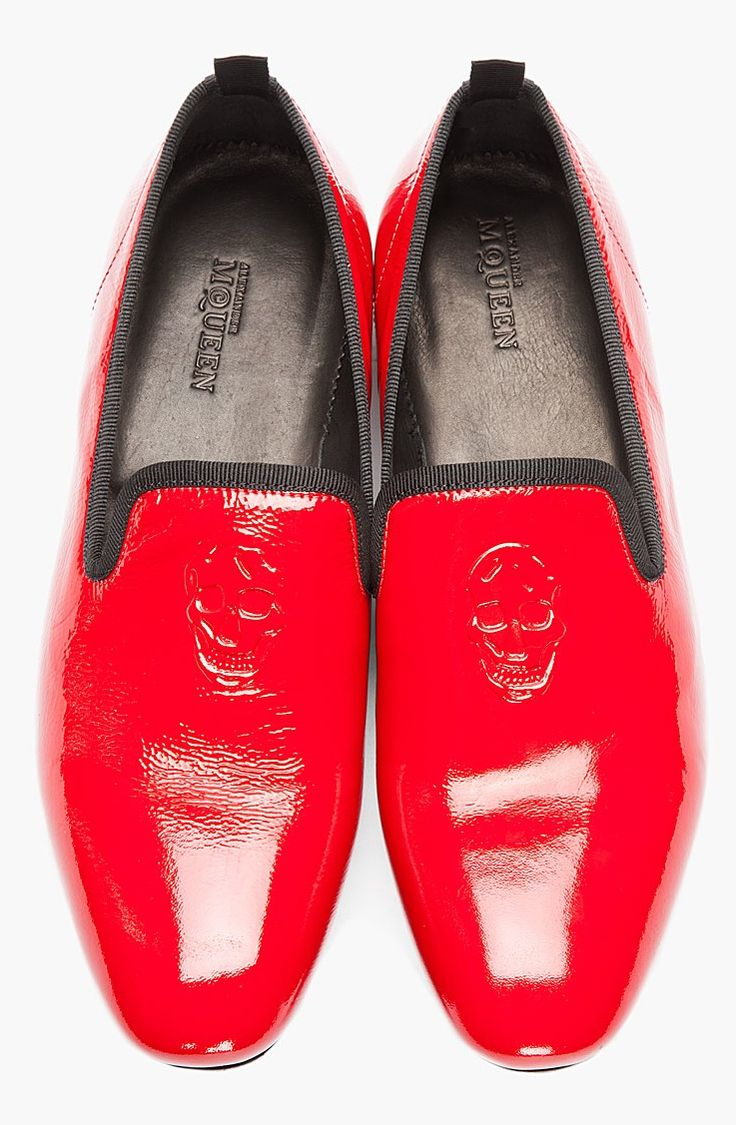 Alexander McQueen red patent loafers for men  The FashionStoned Chap