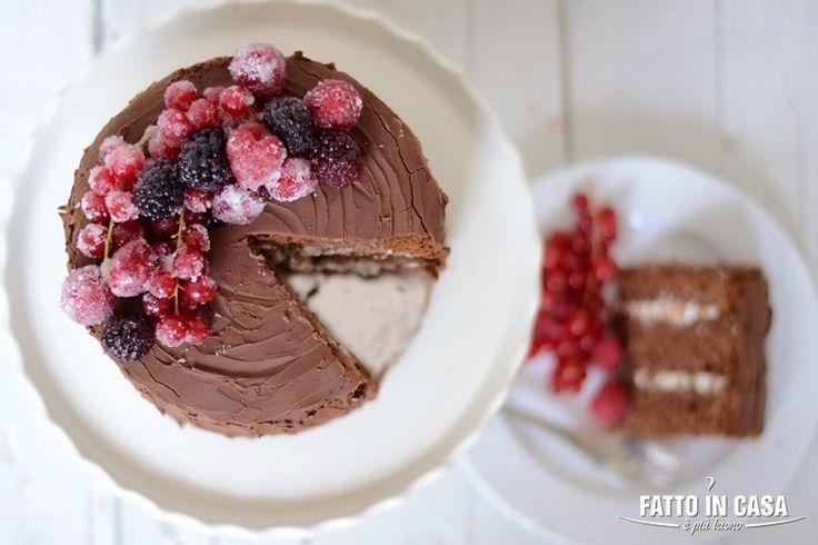 Torta Al Cioccolato e Frutti di Bosco http://bit.ly/tortacioc_valent Fatto in casa è più buono