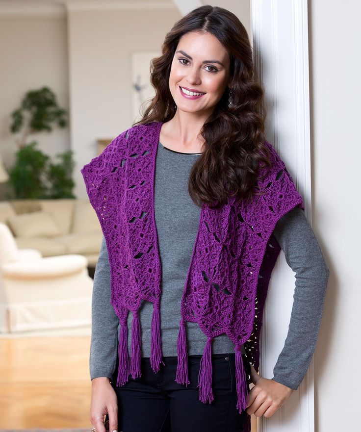 Petite Ruana Crochet Shawls and Wraps Pinterest Free pattern, Crochet w...