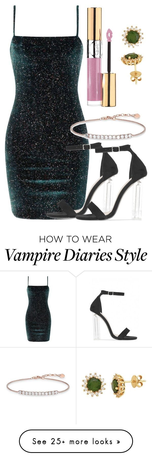 """Davina Inspired Party Outfit - The Vampire Diaries/ The Originals"" by fangsandfashion on Polyvore featuring Thomas Sabo and Yves Saint Laurent"