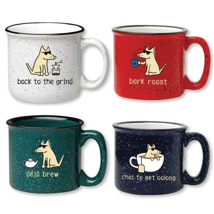 Teddy the Dog Ceramic Camper Mug Mugs, Ceramics, Teddy
