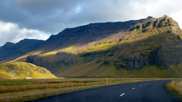 Driving in South Iceland