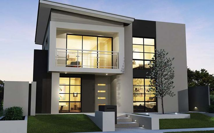 #Modern #Home Design with 2 Floors