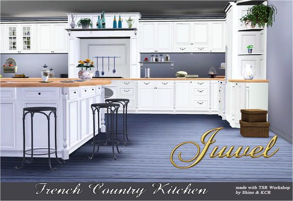 Shino kcr 39 s french country kitchen sims 3 design for Sims 3 kitchen designs