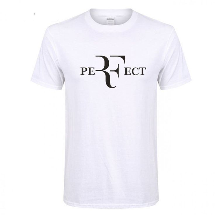 Roger Federer RF T Shirts Cotton O Neck Short Sleeves Casual Top Shirt For Men #Unbranded #Casual