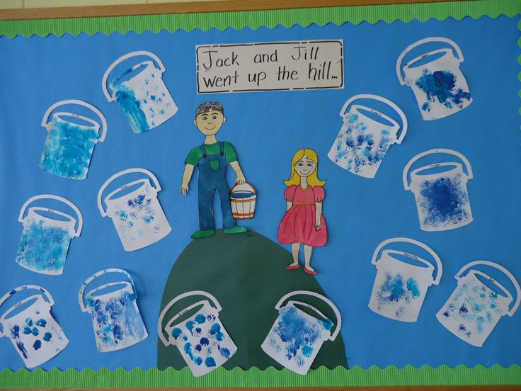 Nursery Rhyme unit: Jack and Jill bulletin board.