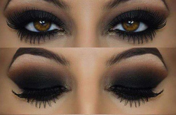 olhos castanhos