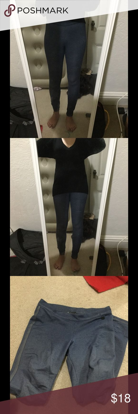 Armani Exchange leggings jeans Used many times, light color, has one hole under the knee Armani Exchange Pants Leggings