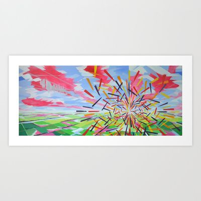 """""""Quantum Phenomenon"""" Art Print  Gallery quality Giclée print on natural white, matte, ultra smooth, 100% cotton rag, acid and lignin free archival paper using Epson K3 archival inks. Custom trimmed with 1"""" border for framing."""