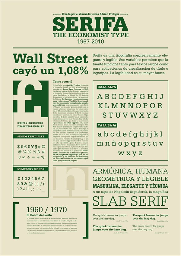 Serifa - Especimen tipográfico on Behance