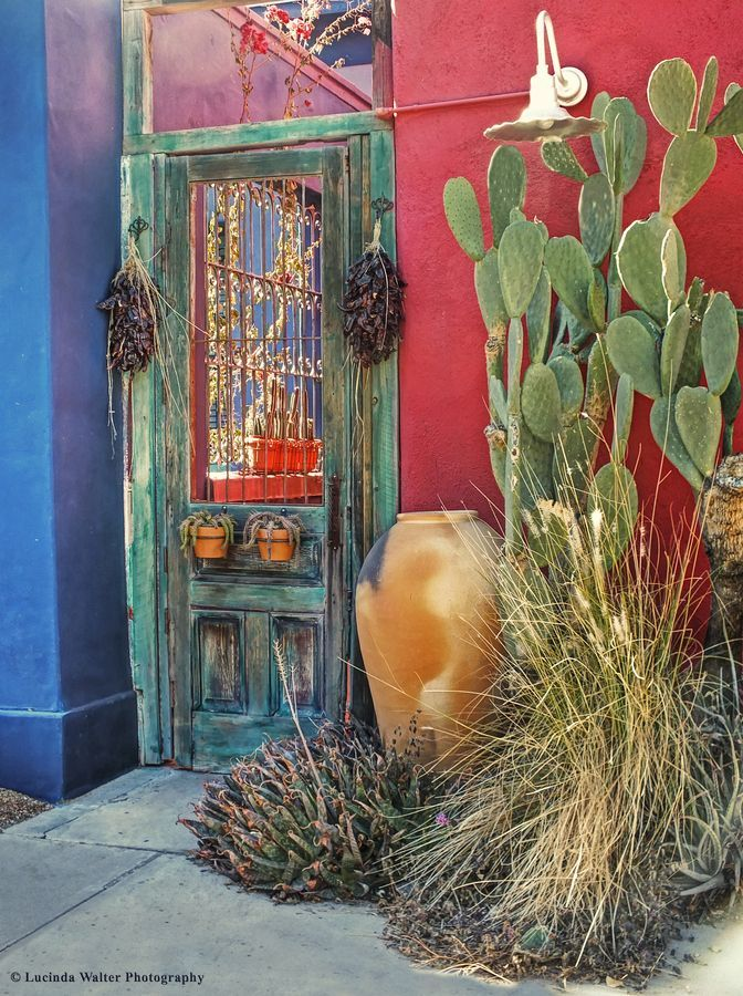 Southwest Door by Lucinda Walter & Best 25+ Southwestern windows and doors ideas on Pinterest ... pezcame.com