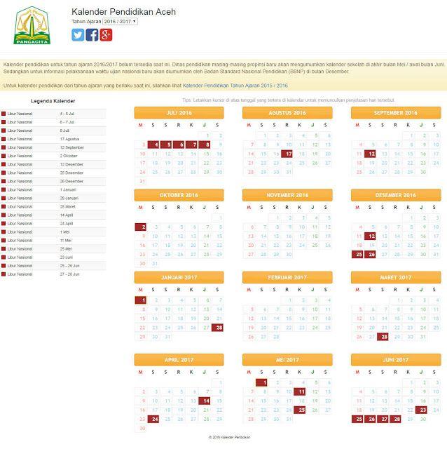 Download Gratis Kalender Pendidikan Tahun 2016/2017 Semua Provinsi di Indonesia dalam format Jpg yang bisa anda pergunakan sebagai persiapan dalam menghadapi Tahun Pelajaran yang sebentar lagi akan segera dilaksanakan setelah sebelumnya diadakan Kegiatan Ulangan Kenaikan Kelas (UKK) dan Aplikasi PPDB.  Kalender Pendidikan Tahun Pelajaran 2016/2017 biasanya digunakan sebagai dasar untuk membuat atau merancang RKAS Perangkat Pembelajaran serta Program-program sekolah yang Tahun sebelumnya…