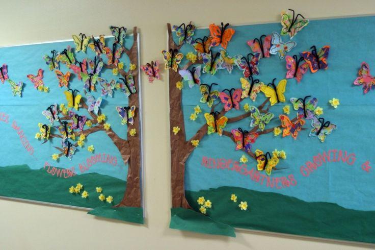 butterfly bulletin board: Classroom Decor, Classroom Bulletin Boards, Gardens Theme, Spring Bulletin, Bulletinboards, Classroom Ideas, Boards Ideas, Schools Display, Preschool Summer