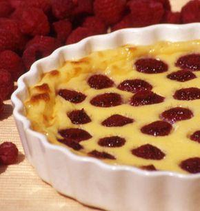 Photo de la recette : Clafoutis aux framboises