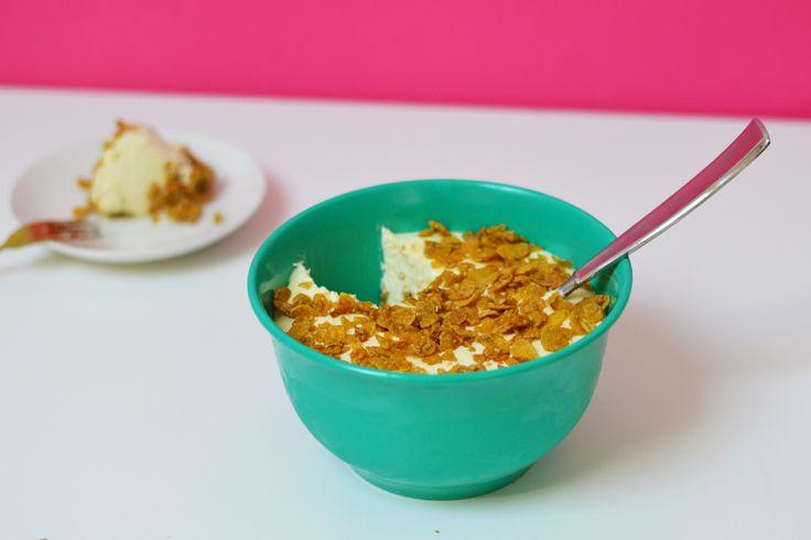 Bowl of Cornflakes No-Bake Cheesecake (Easy, Easy, Easy!)