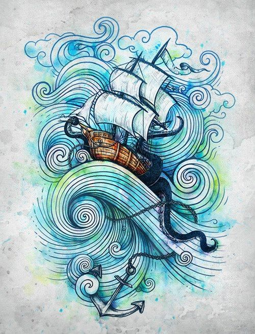 Been thinking about an ocean tattoo for a long time, this could be the beginning of an amazing piece of art on my body :D