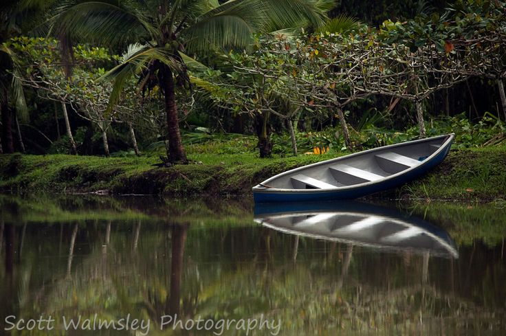 Canoe on the river, Cahuita, Costa Rica