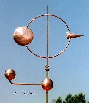 Denninger Cosmic Arrow Weathervane - Modern Weather Vane