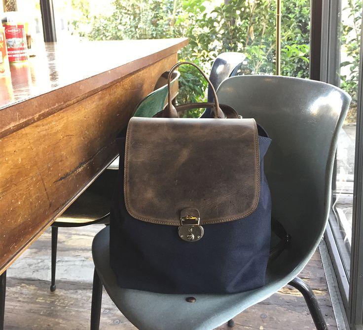 Zainetto Pratico e Versatile oltreché bello e impossibile! #backpack #matera #zaino #zainetto #leather #canvas