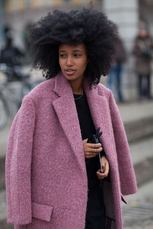Street Style Milan Fashion Week Fall 2013 - Milan Street Style - Harper's BAZAAR...side swept bangs!