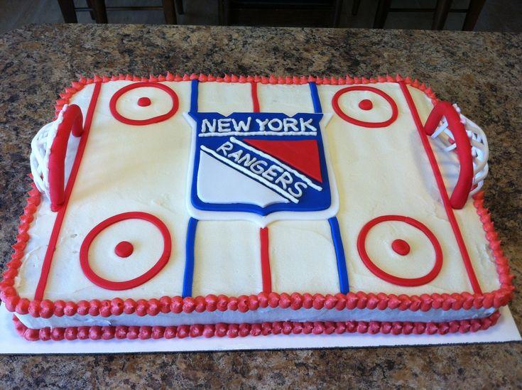 New York Rangers Cake, greatest cake ever Erin!