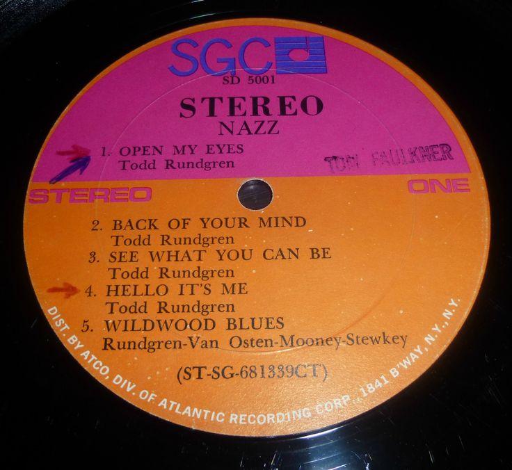 Nazz -S/t original SGC label