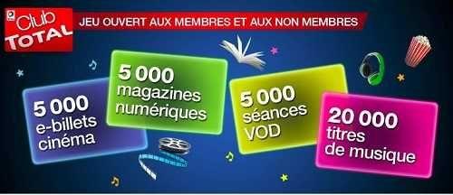 Total organise un jeu concours afin de vous faire gagner 35 000 cadeaux.