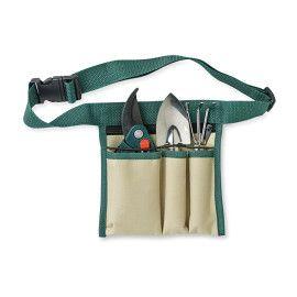 Set 3 attrezzi da giardino 1 rastrello 1 forchettone 1 paio di forbici Fornito in borsa di poliestere 600D con cintura