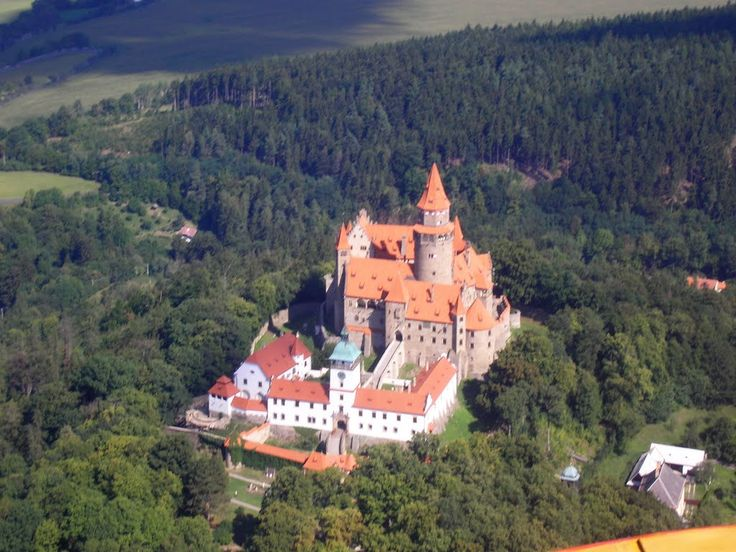 Bouzov Castle, located between the village of Hvozdek  and the town of Bouzov west of Litovel Moravia CZECH REPUBLIC