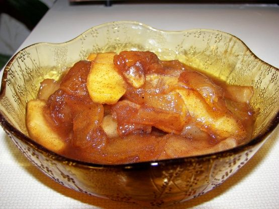 When fall rolls around, I find I have a craving for my moms stewed apples.  She never followed a recipe, but would somehow always manage to whip up the most flavorful apples you ever tasted!  In an effort to recreate my moms stewed apples, I came up with this recipe.  We would usually have this as a side dish with supper, replacing applesauce.  However, it would also be delicious served as a dessert with vanilla ice cream or over gingerbread or pound cake with a little whipped cream.  I…